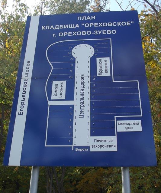 Ореховское кладбище разительно